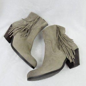 Sam Edelman Suede Leather Louie Grey Boots 8.5M